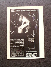 L591- Advertising Pubblicità -1957- ELETTRODOMESTICI LAVATRICE ZEROWATT LT