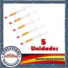 5x PASTA TERMICA SILICONA 1GR MAXIMA CALIDAD PARA PROCESADOR ORDENADOR XBOX PS3