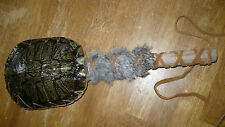 Native American Indian Ceremonial Turtle Rattle w/ rabbit fur wiccan sacred