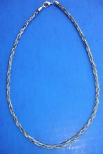 "Western Jewelry 20"" Braided Salt N Pepper Horse Hair 4 MM Necklace"