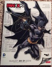 2014 FAN EXPO CANADA CONVENTION PROGRAM DC BATMAN 75th ANNIVERSARY VARIANT PROMO