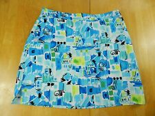 WOMENS blue green comfort athletic GOLF SKIRT = EP PRO = SIZE 12 = #p93