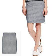M&S BEST of BRITISH Short Jacquard MINI SKIRT ~ Size 14 ~ GREY Mix