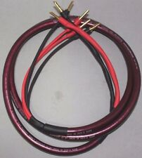 MPS 3.0M E-420 bi-wire speaker cable pair,10awg 99.9997% OFC conductors- bananas