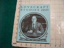 UNREAD: H P Lovecraft Studies 22/23 NECRONOMICON PRESS 1st 1990