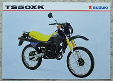 SUZUKI TS50XK Motorcycle Sales Specification Leaflet Dec 1997 #MB8TS50XK-LEAF