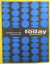 CHICAGO TODAY TELEVISION TV guide Sept 20 -26 1970 Western Illinois Edition