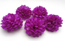 10pcs Daisy Artificial flower Silk Spherical Heads Wedding Decor Purple Deep 5CM