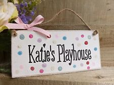 PLAYHOUSE SIGN DEN PLAQUE HANDMADE OUTDOOR BOY/GIRL
