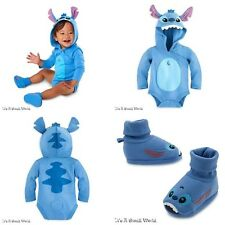 Disney Store Stitch Baby Bodysuit Costume & Shoes Outfit Set Size 0 3 Months NWT