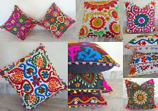 Lot Of 5 pcs Suzani Embroidered Cushion Cover Suzani Pillow Covers Wholesale Lot
