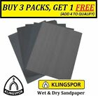 WET AND DRY SANDPAPER sheets 60 -2000 GRIT KLINGSPOR SAND PAPER MIXED YOU CHOOSE