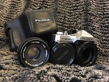 Fujifilm Fujica ST 605N 35mm SLR Film Camera with ys-pe adapter, lens, and MORE!