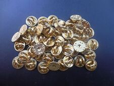100 Brass Clutch Back Badge Pin Military Army Navy USAF USMC Disney insignia lot