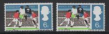 1966 Coppa del mondo. il valore 6D con PERF SHIFT errore, BLACK impronta su PERFS. MNH.