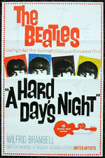 THE BEATLES REPRO 1964 A HARD DAYS NIGHT USA FILM MOVIE POSTER . JOHN LENNON