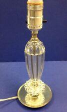 """Vintage Glass Lamp Mirror Base 11"""" Boudoir Bedside Dressing Table"""