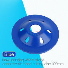 "Diamond Grinding Concrete Cup Wheel Disc Concrete Masonry Stone Grinder 4"" blue"