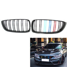 Gloss Black Front Kidney Grille Double Slat M4 Style for BMW F32 F33 F36 F82 B00