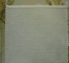 A FAT QUARTER 50X50cm OVER LOCKED 14ct CREAM AIDA  IDEAL 4 CARD MAKING  ANCHOR