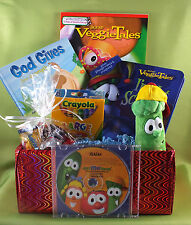Personalized Veggie Tales Gift Basket - Great unique gift idea - Licensed Brand