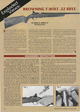 1996 ad 710 for Browning T-Bolt .22 Rifle with Exploded View and parts list