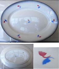 Vintage Italian 1930 plate Piatto da portata Galvani Art Deco ceramica aerografo