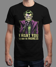 Joker - Join the Madness Tshirt Shirt Tee L NEU Arkham Gotham NEW Black