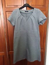 New! IN TOWN Grey Marl Stretch Cap Sleeve Smart Dress - 14