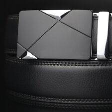 Luxury Men's Faux Leather Automatic Buckle Belts Waist Strap Belt Waistband