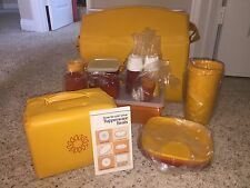 RARE Vintage Tupperware Picnic Pack Hostess Set 1980's Harvest Colors New In Box