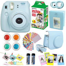 Fujifilm Instax Mini 8 Instant Camera Blue + 20 Film All in One Accessories Kit
