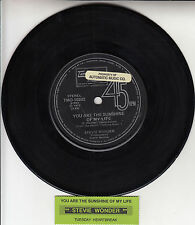STEVIE WONDER You Are The Sunshine Of My Life 45 record + juke box title strip