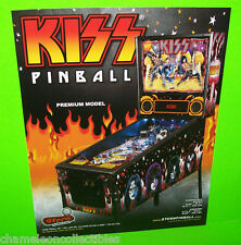 KISS PREMIUM MODEL By STERN ORIGINAL PINBALL MACHINE PROMOTIONAL SALES FLYER