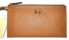 MICHAEL KORS Fulton Zip Laggage Leather purse clutch Wristlet NWT