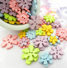 Buttons by weight 75g / 50g  flower heart garden pastel christmas pink green....