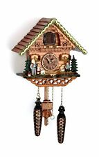 "cuckoo clock black forest quartz german  music  ""Heidi House"" wood new"