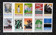 2017USA Forever WPA Posters -  Block of 10 From Booklet  Mint
