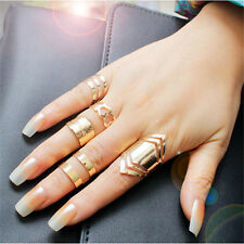 5stk/set Mode Damen Gold Fingerring Ring Schmuck