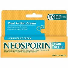 2 Pack - Neosporin + Pain Relief Cream Maximum Strength 1oz Each