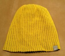 NWT Quicksilver Yellow Beanie No Pom Sneaky Pete One Size Unisex Winter NEW