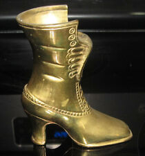 Solid Brass Made India Indian Womens Boot Vase Planter Match Holder