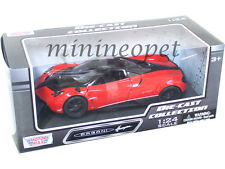 MOTORMAX 79312 PAGANI HUAYRA 1/24 DIECAST MODEL CAR RED with BLACK WHEELS