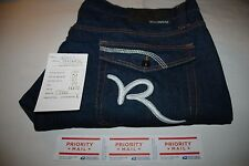 2609 MENS ROCAWEAR BLUE BAGGY/LOOSE FIT JEANS ACT SZ(46X31)TAG(46X32)