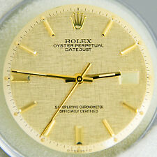 Rolex DateJust 2Tone Champgne Dial Hands Pie Pan Non Quickset Slow Set 1601 Gold