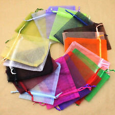 80PCS Sheer Organza Wedding Party Favor Gift Candy Bags Jewelry Pouches