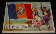 1956 Topps Trading Cards Flags of the World #31 RUMANIA