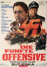Die fünfte Offensive|The Battle of Sutjeska Richard Burton WW2 Plakat 1974