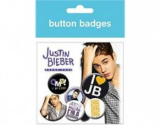 JUSTIN BIEBER omb - BUTTON BADGE PACK - SET OF 6 official merchandise