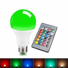 Sdida LED RGB Bulb E27 15W Remote Control LED Light Bulb RGB 16 Color Changing